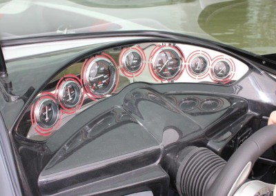 Stainless laser cut dash of CRX 22C